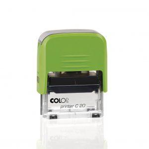 штамп colop printer c20 зелёный