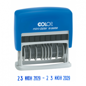 colop mini-dater s120 dd с двойной датой