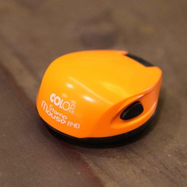 colop stamp mouse оранжевый неон печати и штампы томск