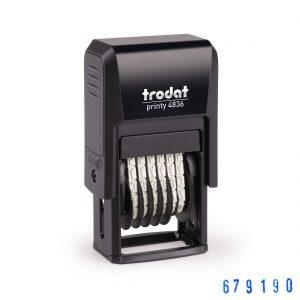4836 trodat нумератор 6 разрядный