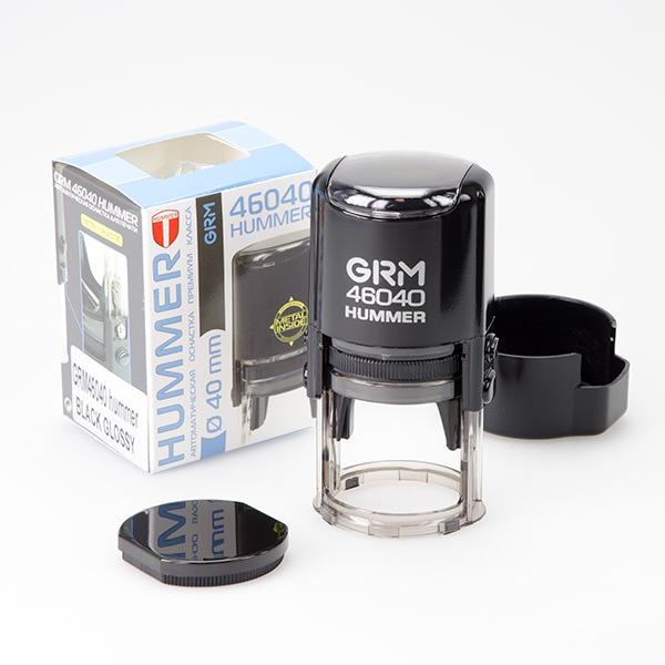 чёрный grm hummer 46040 оснастка для круглой печати